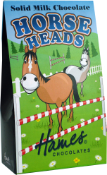 Solid Milk Chocolate Horse Heads